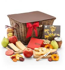 artisan fruit and cheese gift