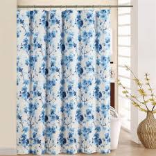 Curtain With Hooks Waverly Tree Blossom Blue Floral Shower Curtain With Hooks