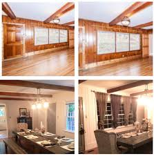 knotty pine renovation i loved the beams but hated the dated feel