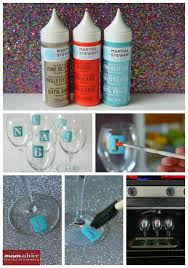 how to personalize a wine glass diy monogrammed wine glasses momadvice