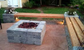 Firepit Bench Hull Patio Pergola Propane Pit Custom Benches Pillar