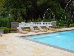 swimming pool striking oval shape backyard pool design ideas