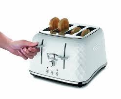 de u0027longhi ctj4003 w brillante faceted 4 slice toaster white