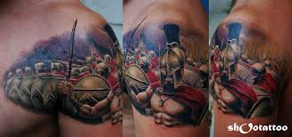 gallery category color tattoos image 300 spartans