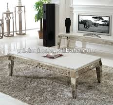 Marble Living Room Table Modern Design Artifical Marble Coffee Table Stainless Steel Frame