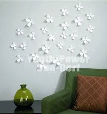 White Flower Wall Decor Flowers Design On Wall Crowdbuild For