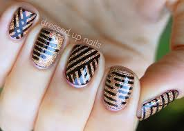 60 latest stripes nail art design ideas