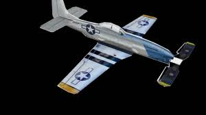 3d paper model airplanes print outs micro paper p 51 mustang with rubber band powered propeller youtube