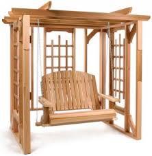 5 Ft Patio Swing With Cedar Pergola Create by Cedar Wood Outdoor Furniture Outdoor Room Ideas