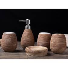 5pcs ceramic bathroom accessories set bathroom dispenser set