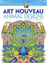 creative nouveau designs coloring book
