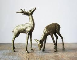 vintage brass deer figurines buy vintage brass deer figurines