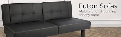 my futon sinks in the middle amazon com best choice products leather faux fold down futon lounge