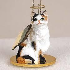 calico cat ornament tiny calico cat figurine eyedeal