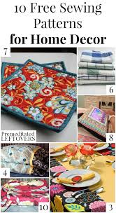 home decor patterns 10 free home decor sewing patterns