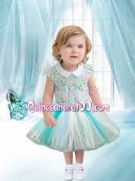 2014 romantic royal blue ball gown ruffles little dresses