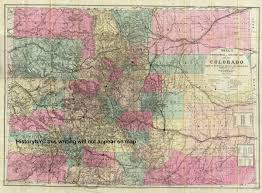 Colorado State County Map by Welcome To Historynyc Historical Maps Poster Books And Custom