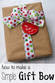 christmas gift bow how to make a simple gift bow typically simple