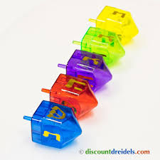 large dreidel plastic fillable dreidel in different colors