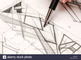 architect hand drawing house plan sketch with pencil stock photo architect hand drawing house plan sketch with pencil