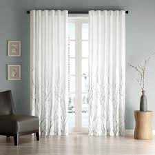 White Faux Silk Curtains Park Eliza Faux Silk Curtain Panel Overstock Shopping