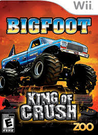 games of monster truck racing amazon com big foot king of crush nintendo wii video games