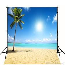 10x10ft tropical beach themed backdrop cloth beautiful scenery