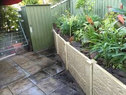 post and panel retaining wall in perth retaining walls perth