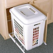 knape u0026 vogt roll out plastic hamper psh15 1 60 w the home depot