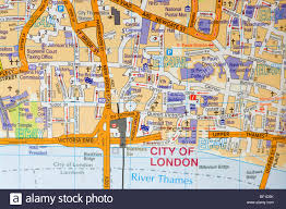 Etsy Maps Street Road Map Of The City Of London Uk Stock Photo Royalty Free