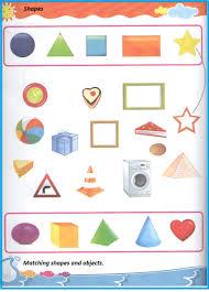 shape match worksheet for kindergarten and preschool preschool