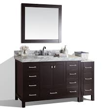 malibu espresso single modern bathroom vanity with side cabinet