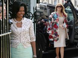 first lady melania trump vs michelle obama fashion cost of