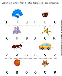 identify the beginning sound of words turtlediary com pre k
