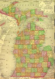 Michigan Counties Map Michigan
