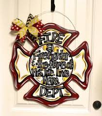 wooden maltese cross firefighter wooden maltese cross with initial painted