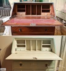 Shabby Chic Secretary Desk by Shabby Chic Makeover Bureau No 23 Touch The Wood