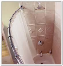 Curtains With Hooks Bathroom Inspiring Curved Shower Curtain Rod In Silver With Hooks