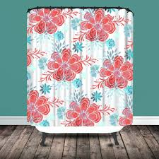 Pink And Yellow Shower Curtain by Pink Flower Shower Curtain Alitary Com