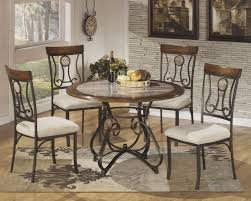 dining room beautiful round glass dining table rustic dining