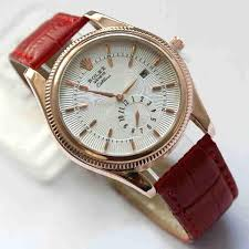 Foto Jam Tangan Merk Alba jual jam tangan wanita cewek rolex leather gold sedia