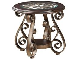 Standard End Table Height by Standard Furniture Bombay Old World End Table With Glass Top And S