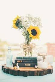 table centerpieces with sunflowers sunflower filled washington wedding sunflower centerpieces