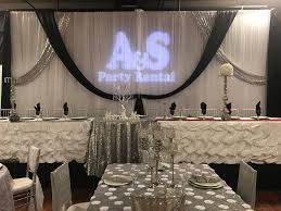 draping rentals wedding draping black silver party corporate events college