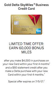 delta gold business card amex gold delta skymiles credit cards increased 60k mile signup