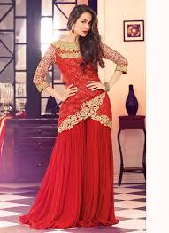 malaika arora khan red designer palazzo salwar suit plazzo suits