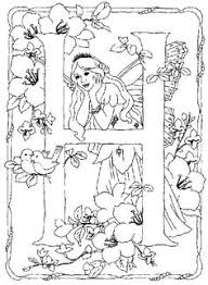coloring activity kids pages fairy coloring pages flower