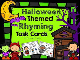 themed rhyming task cards by christine tpt