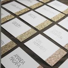 glitter dipped place cards gold silver or pink glitter on