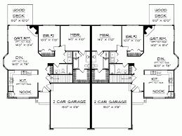 Duplex With Garage Plans Eplans Cottage House Plan Ranch Bungalow Duplex 2518 Square